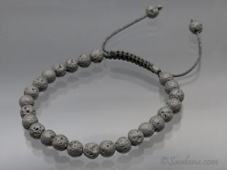 BrMala396 Bracelet Mala Pierre de Lave. 19 cm